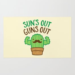 Sun's Out Guns Out Macho Cactus Rug