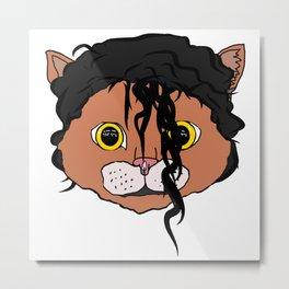 MJ Cat Head Metal Print