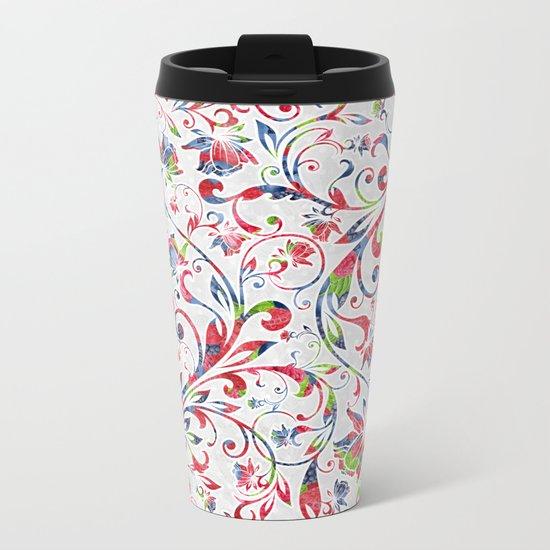 Berries Pattern 07 Metal Travel Mug