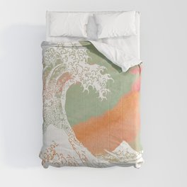 Calm into Great Wave Paint  I Comforters