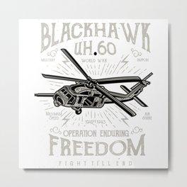 Blackhawk Retro Metal Print