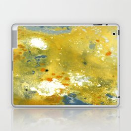 Abstract Acrylic Painting YELLOW Laptop & iPad Skin