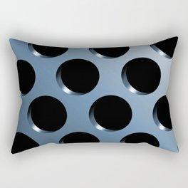 Cool Steel Graphic Art Like Polka Dots Rectangular Pillow