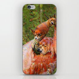 Dream Creatures, Flamingo, DeepDream iPhone Skin