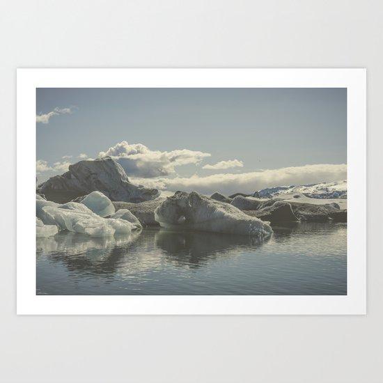 Icebergs V Art Print