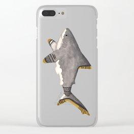 Tribal Shark Clear iPhone Case