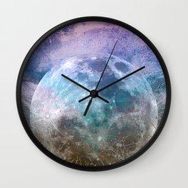 MOON under MAGIC SKY I-1 Wall Clock