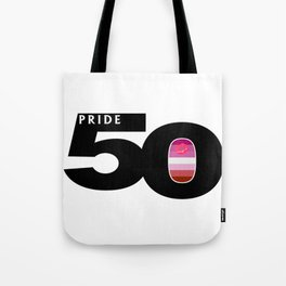 50 Pride Lipstick Lesbian Pride Flag Tote Bag