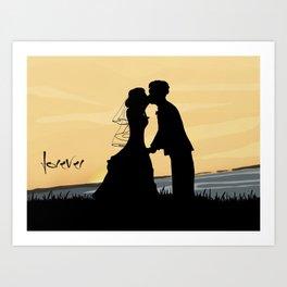 Forever in Love Art Print