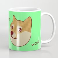 doge Mugs featuring Shibe Doge - Very Art by TinyBee