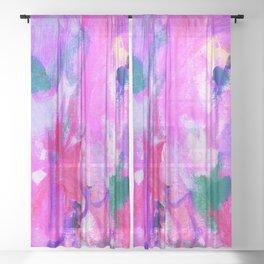Lavender Garden Spells Sheer Curtain