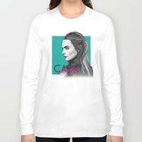 cara delevingne Long Sleeve T-shirts featuring Cara Delevingne by Dik Low