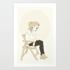 girl sitting Art Print