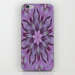 Floral Abstract Of Pink Hydrangea Flowers iPhone Skin