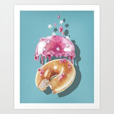 Space Doughnut Art Print