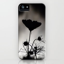 Flower in black and white iPhone Case