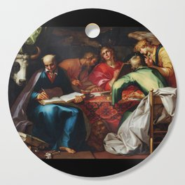 Abraham Bloemaert - The Four Evangelists (1612) Cutting Board