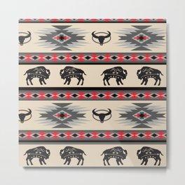 American Native Pattern No. 130 Metal Print