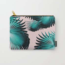 Fan Palm Leaves Paradise #4 #tropical #decor #art #society6 Carry-All Pouch