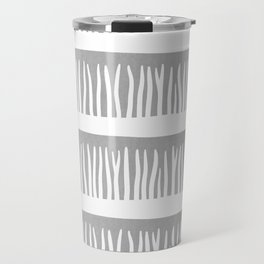 Abstract Blades of Grass in Grey Travel Mug