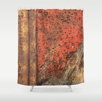 metal Shower Curtains featuring Metal Frontier  by Fernando Vieira