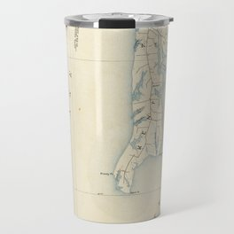 Vintage Annapolis MD & Chesapeake Bay Map (1902) Travel Mug