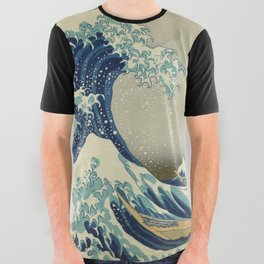 The Great Wave off Kanagawa All Over Graphic Tee