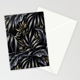Jurassic Jungle - Grey Gold Stationery Cards