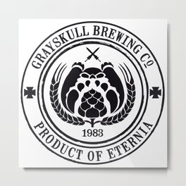 Grayskull Brewing Company Metal Print