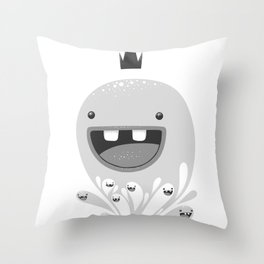 King Lip of the Squiggles Throw Pillow