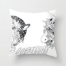 boobicorn Throw Pillow