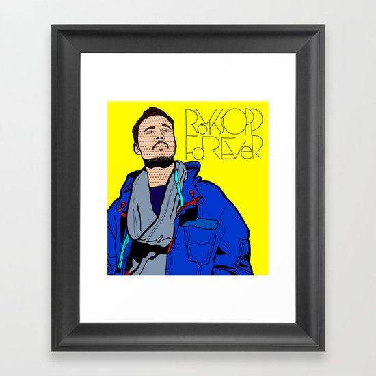 Röyksopp Forever Roy Lichtenstein Inspired Portrait 1 Framed Art Print