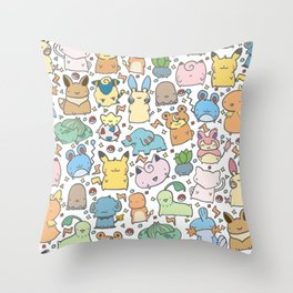 Kawaii Pokémon Throw Pillow
