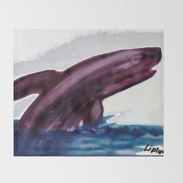 WHALE     by Kay Lipton Throw Blanket