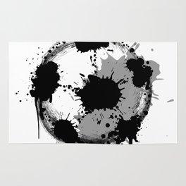 Grunge football ball Rug