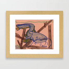Catfish Prowl Framed Art Print