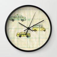 cars Wall Clocks featuring Cars by Walktheline