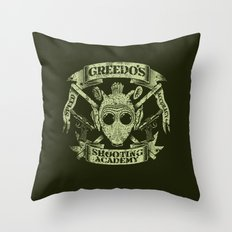 Greedo's Shooting Academy - Star Wars Throw Pillow