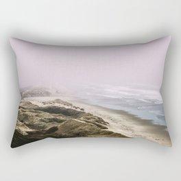 Foggy Pacific Ocean Oregon Beach Dune Adventure Rectangular Pillow