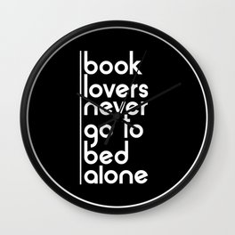 Book Lovers Wall Clock