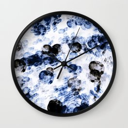 Blue Paint Drip Wall Clock