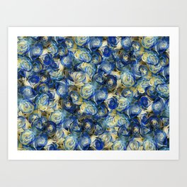 Danube Sparkling Roses Art Print