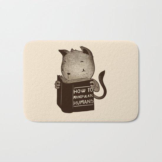 Cat Book How To Manipulate Humans Bath Mat