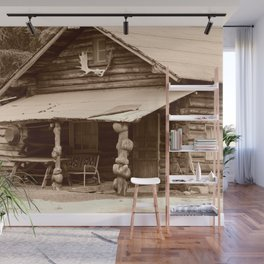 Old Log Cabin Wall Mural