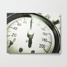 Water Pressure Gauge Metal Print