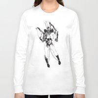 bondage Long Sleeve T-shirts featuring Bondage Burn Victim (Anthony Cooper) by Andrew Tremblay (Unknown Planet / ILL) a