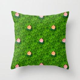 Fruit Harvest - Peach Throw Pillow