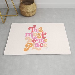 This Must Be the Place (Pink Palette) Rug