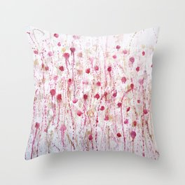 little pink Throw Pillow