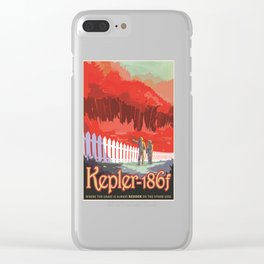 Kepler-186 : NASA Retro Solar System Travel Posters Clear iPhone Case